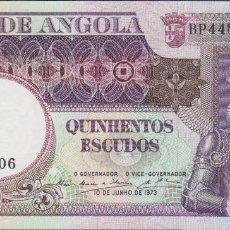 Billetes extranjeros: BILLETES - ANGOLA - 500 ESCUDOS 1973 - SERIE BP 44805 - PICK-107 (SC-). Lote 175399063