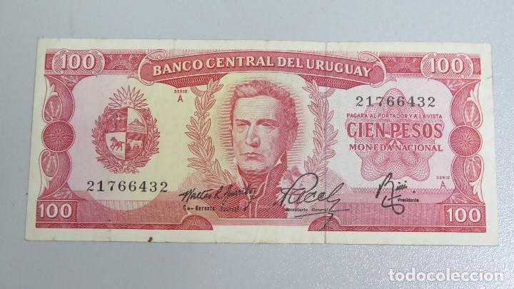 BILLETE 100 PESOS. URUGUAY (Numismática - Notafilia - Billetes Extranjeros)
