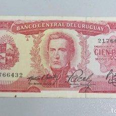 Billetes extranjeros: BILLETE 100 PESOS. URUGUAY. Lote 137799950