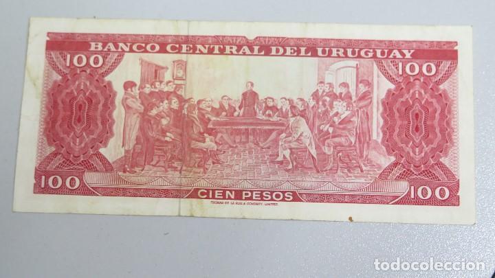 Billetes extranjeros: BILLETE 100 PESOS. URUGUAY - Foto 2 - 137799950