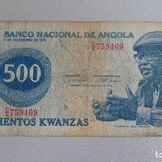 Billetes extranjeros: BILLETE DE ANGOLA 500 KWANZAS. Lote 137800198