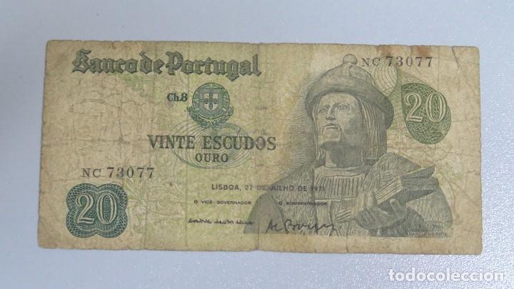 BILLETE 20 ESCUDOS. PORTUGAL. 1971 (Numismática - Notafilia - Billetes Extranjeros)