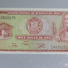 Billetes extranjeros: BILLETE 10 SOLES. PERU. Lote 137801010