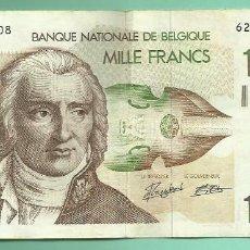 Billetes extranjeros: BÉLGICA BILLETE DE 1000 FRANCS ND (1980-1996).. Lote 137842178