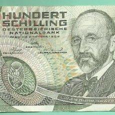 Billetes extranjeros: AUSTRIA BILLETE DE 100 SCHILLING 1984. Lote 137851378