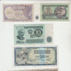 Billetes extranjeros: LOTE DE 5 BILLETES EXTRANJEROS. Lote 137885794