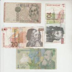 Billetes extranjeros: LOTE DE 5 BILLETES EXTRANJEROS. Lote 137891778
