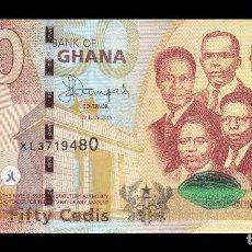 Billetes extranjeros: GHANA 50 CEDIS 2015. PICK 42B. SC. UNC (UNCIRCULATED). Lote 138272850