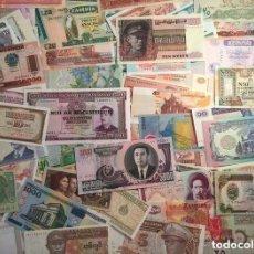 Billetes extranjeros: GRAN LOTE 100 BILLETES DEL MUNDO CALIDAD UNC TODOS DIFERENTES. Lote 142605576
