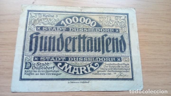 ALEMANIA 10.000 MARCOS DUSSELDORF 15-7-1923 (Numismática - Notafilia - Billetes Extranjeros)