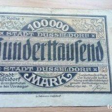 Billetes extranjeros: ALEMANIA 10.000 MARCOS DUSSELDORF 15-7-1923. Lote 138879930