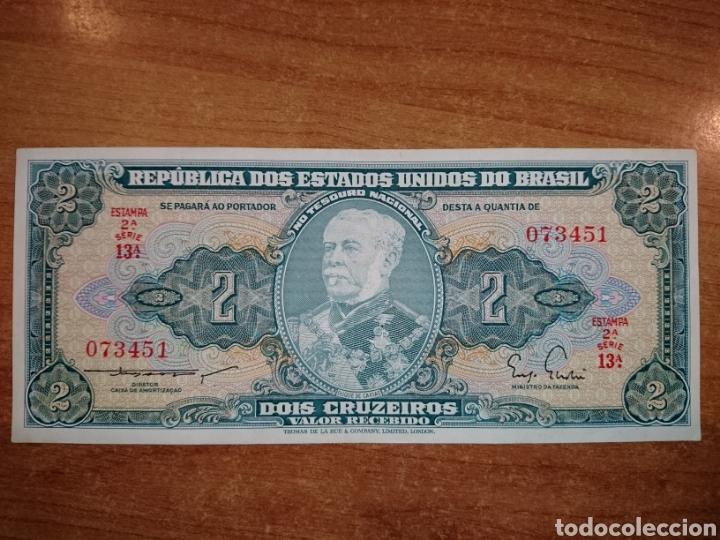 BRASIL 2 CRUZEIROS 1953/1960 (Numismática - Notafilia - Billetes Extranjeros)