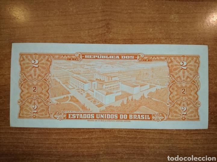 Billetes extranjeros: Brasil 2 cruzeiros 1953/1960 - Foto 2 - 139889469