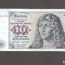 Billetes extranjeros: 1 BILLETE ALEMANIA GERMANY 10 MARCOS 1970 USADO COMO FOTO. Lote 139508754