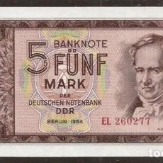 Billetes extranjeros: ALEMANIA ORIENTAL. 5 DEUTSCHE MARK 1964. S/C. PICK 22.. Lote 140182946