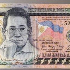 Billetes extranjeros: FILIPINAS. 500 PESOS. Lote 140391973