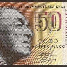 Billetes extranjeros: FINLANDIA. 50 MARKKAA 1986. LITT. A. PICK 118. S/C. VARIANTE DE FIRMAS.. Lote 140433224
