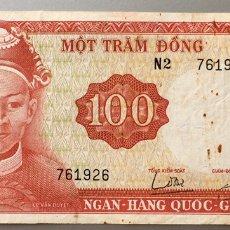 Billetes extranjeros: VIETNAM 100 DONG 1966. Lote 140453810