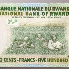 Billetes extranjeros: RUANDA. RWANDA 500 FRANCOS. Lote 140453917