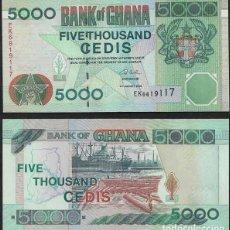 Billetes extranjeros: 5000 CEDIS DE GHANA DEL AÑO 2006,SIN CIRCULAR. Lote 140454830