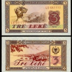 Billetes extranjeros: ALBANIA - 3 LEKE - AÑO 1976 - S/C. Lote 140458350