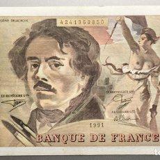 Billetes extranjeros: FRANCIA. 100 FRANCOS 1991. Lote 140462948