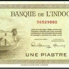 Billetes extranjeros: CMC INDOCHINA FRANCESA (FRENCH INDOCHINA) 1 PIASTRA ND (1945) PICK 76-A SC. Lote 143157830