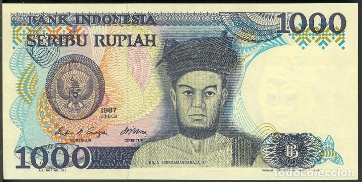 CMC INDONESIA 1000 RUPIAS 1987 PICK 124-A SC (Numismática - Notafilia - Billetes Extranjeros)