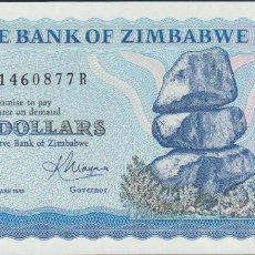 Billetes extranjeros: BILLETES - ZIMBABWE - 2 DOLLARS 1983 - SERIE AB-R - PICK-1B (SC). Lote 140546810