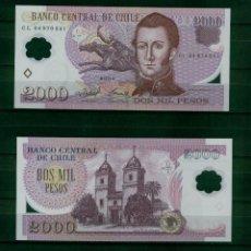 Banconote internazionali: CHILE : 2000 PESOS 2004 ( MANUEL RODRIGUEZ ) SC.UNC. PK.160. Lote 237164185