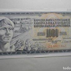 Billetes extranjeros: BILLETE 1000 EXTRANJERO REP.YOGOSLAVIA. Lote 140686970