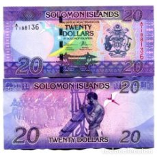 Billetes extranjeros: SOLOMON ISLANDS 20 DOLLARS A/1 ND(2017) P-34 UNC. Lote 143714006
