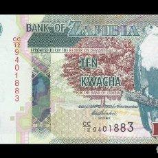 Billetes extranjeros: ZAMBIA 10 KWACHA 2012. PICK 51A. SC (SIN CIRCULAR). Lote 141134426