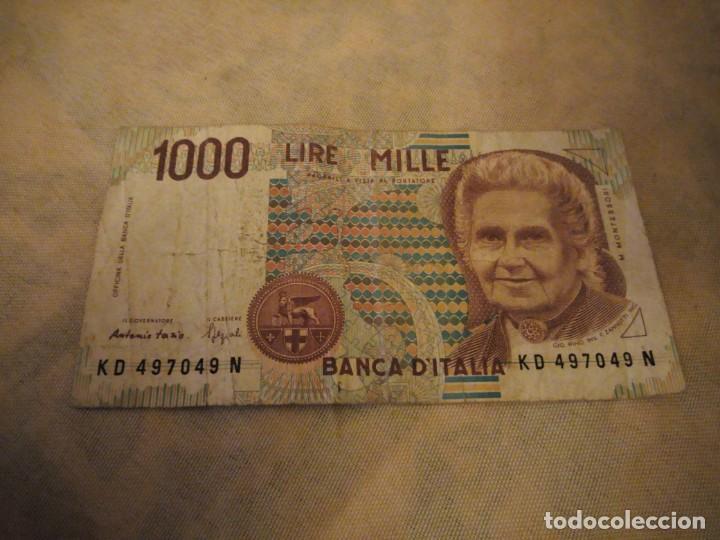 Billete 1000 Lire Mille Banca Ditalia1990 Buy Old International