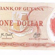 Billetes extranjeros: BILLETE DE GUYANA, 1 DOLAR (LOTE 1). Lote 141245914