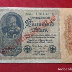 Billetes extranjeros: ALEMANIA. 1000 MARCOS 1922, REMARCADO MIL MILLONES MARCOS. Lote 155932488