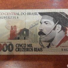 Billetes extranjeros: BILLETE BRASIL 5000 CRUZEIROS REAIS. Lote 141530600