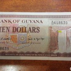 Billetes extranjeros: BILLETE GUAYANA 10 DOLARES. Lote 141531257