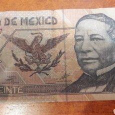 Billetes extranjeros: BILLETE MEXICO 20 PESOS 2002 SERIE U. Lote 141533666