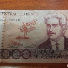 Billetes extranjeros: BILLETE BRASIL 50.000 CRUZEIROS OSWALDO CRUZ A 0578070061A. Lote 141535830
