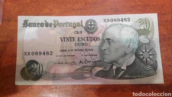 BILLETE PORTUGAL 20 ESCUDOS 1978 EBC SERIE X (Numismática - Notafilia - Billetes Internacionales)