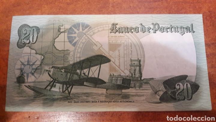 Billetes extranjeros: Billete Portugal 20 escudos 1978 ebc serie x - Foto 2 - 141536977