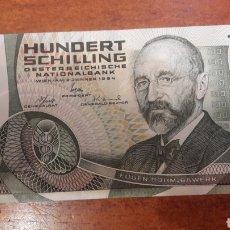 Billetes extranjeros: BILLETE AUSTRIA 1984 100 SCHILLING EBC +. Lote 141538894