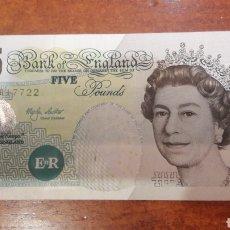 Billetes extranjeros: BILLETE ENGLAND 5 POUNDS. Lote 141545320