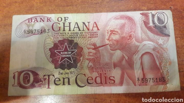 BILLETE GHANA 10 TEN CEDIS 1975 N.16 (Numismática - Notafilia - Billetes Internacionales)