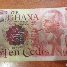 Billetes extranjeros: BILLETE GHANA 10 TEN CEDIS 1975 N.16. Lote 141559042