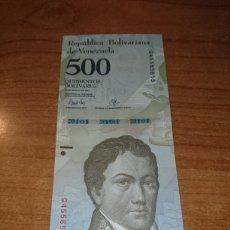 Billetes extranjeros: VENEZUELA 2017 500 BOLIVARES. Lote 141589234