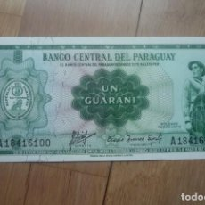Billetes extranjeros: 1 GUARANI DE PARAGUAY. PLANCHA.SC.. Lote 142128538