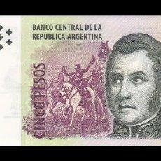 Billetes extranjeros: ARGENTINA 5 PESOS 2013. PICK 353. SC (SIN CIRCULAR). Lote 142233686