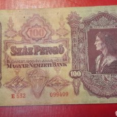 Billetes extranjeros: HUNGRIA 1930 BUDAPEST 100 PENGO. Lote 142575798